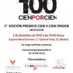 Premios Cien x Cien Origen